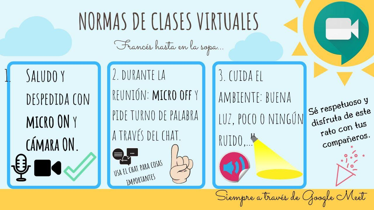 Normas clases virtuales